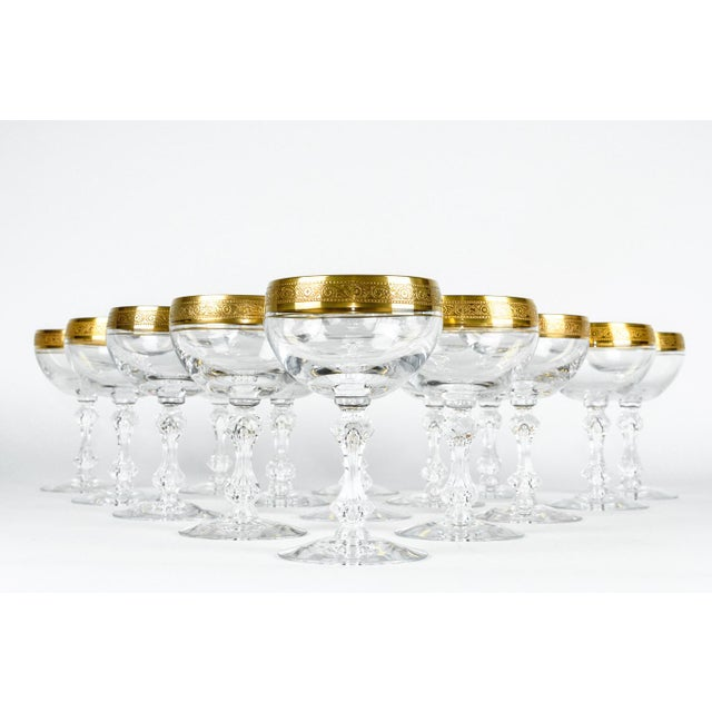 Contemporary Vintage Set 15 Champagne Coupes For Sale - Image 3 of 6