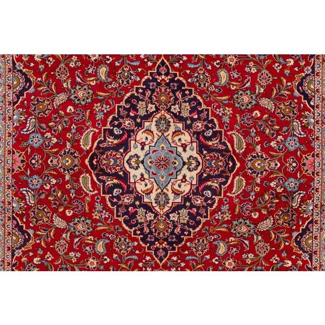 """Vintage Persian Kashan Rug, 9'07"""" X 13'00"""" For Sale - Image 4 of 10"""