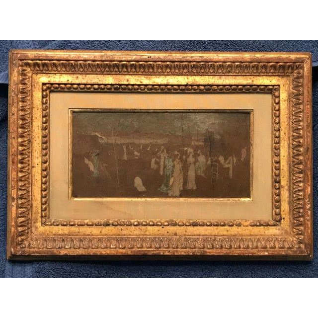 Late 19th Century Antique Reputed Whistler Nocturne Study Painting For Sale - Image 13 of 13
