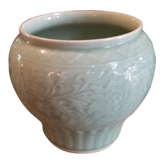 Modern Chinese Celadon Pot For Sale