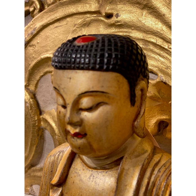 Wood 19th Century Chinese Qing Dynasty Carved Buddha For Sale - Image 7 of 8