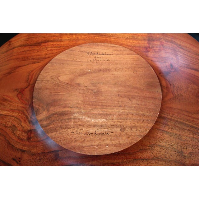 Walnut Monumental Charger by Bob Stocksdale For Sale - Image 7 of 10