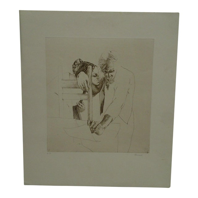 "Limited (4/9) Print ""The Couple"" by Perry Macon Oliver For Sale"