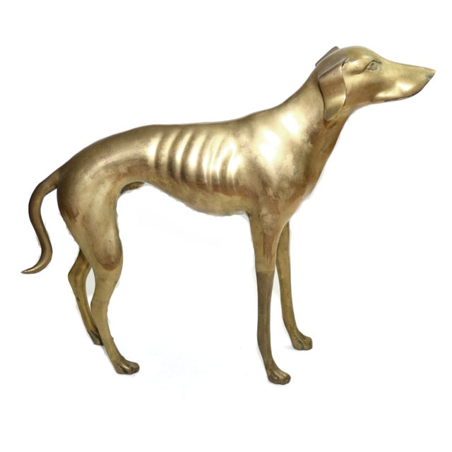 Brass Whippet or Greyhound - Image 2 of 6