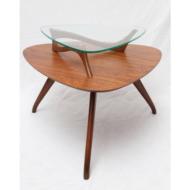 Brown 1960s American Vladimir Kagan Style Side Table For Sale - Image 8 of 8