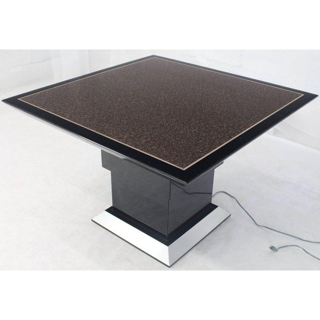 Remote Controlled Hi-Lo Adjustable Height Convertible Coffee Dining Game Table For Sale - Image 9 of 12