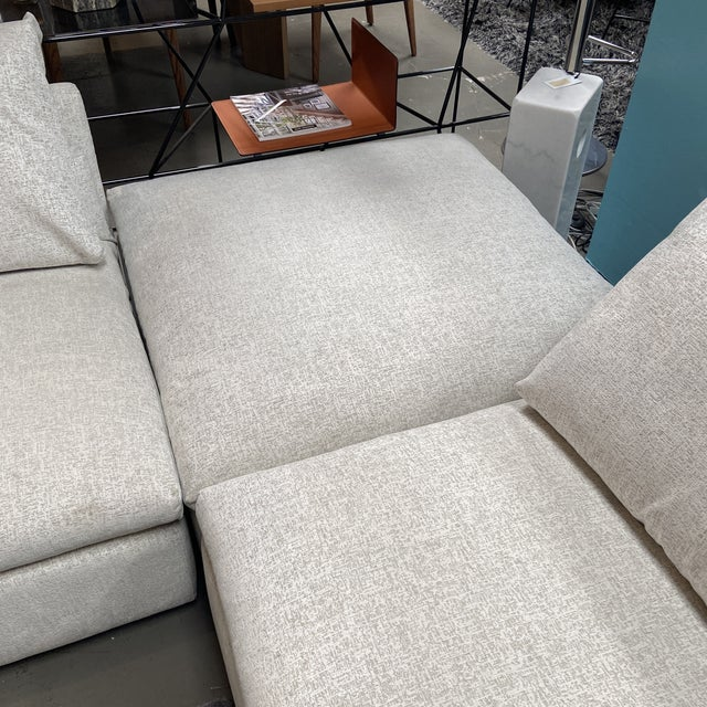 Textile Julia 3-Piece Sectional by Dellarobbia For Sale - Image 7 of 9