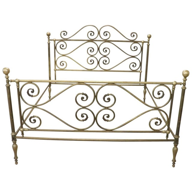 20th Century Italian All Brass Double Bed For Sale - Image 13 of 13