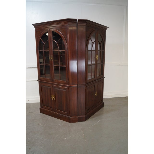 Ethan Allen Georgian Court Cherry Cabinets - Pair - Image 8 of 10