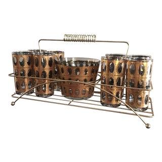 Culver Mid-Century Pisa Cocktail Barware Set - 10 Piece Set For Sale