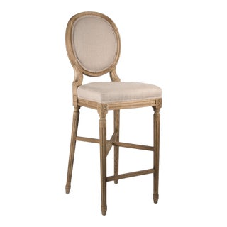 Everest Medallion Bar Stool in Beige For Sale