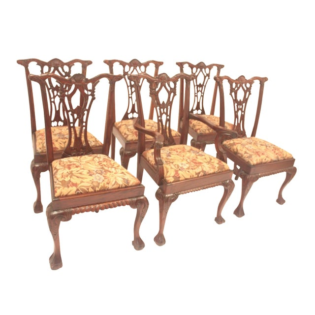 Chippendale Style Dining Chairs - Set of 6 - Image 1 of 11