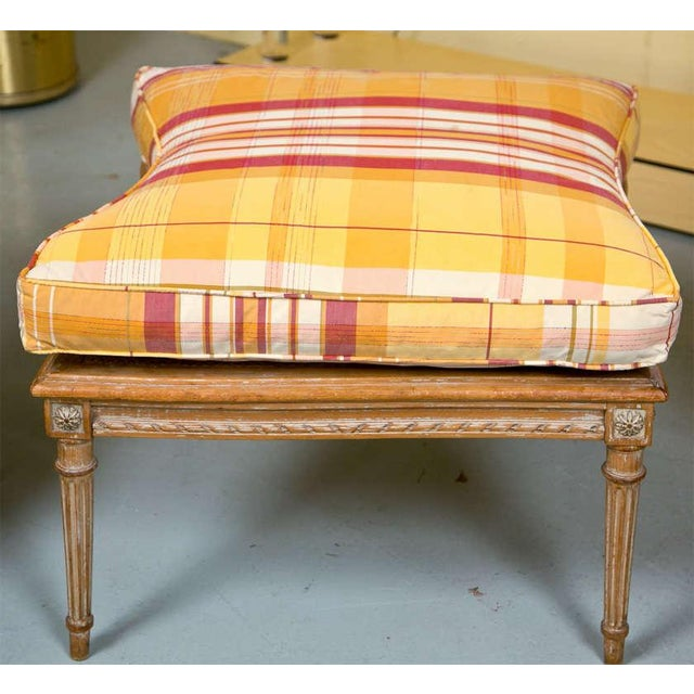 Brown French Louis XVI Style Duchesse Brisee by Jansen 1940s Distress Painted Frame For Sale - Image 8 of 8
