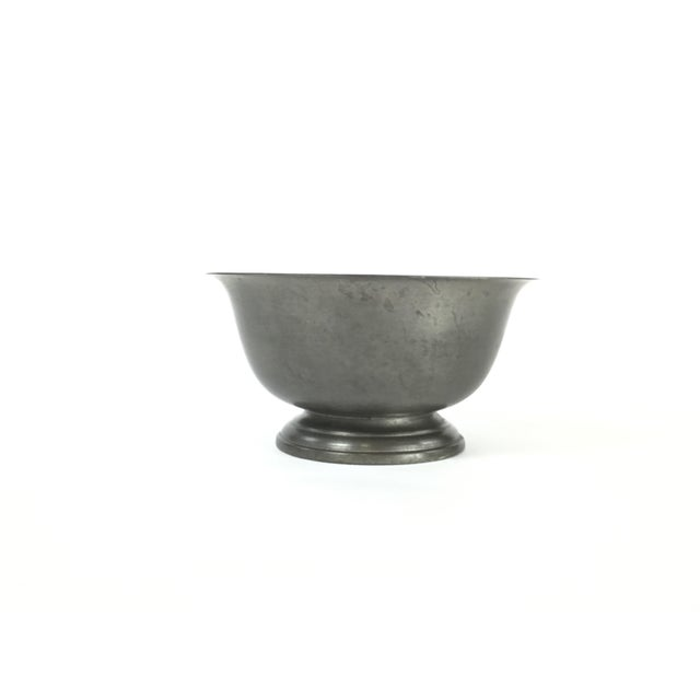 Silver Vintage Poole Silver Co. Pewter Paul Revere Style Bowl For Sale - Image 8 of 8