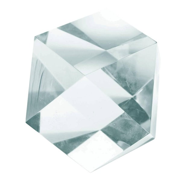 Early 21st Century Large Faceted Lucite Sculpture by Amparo Calderon Tapia For Sale - Image 5 of 6
