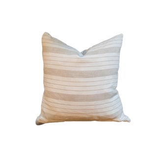 Vintage Linen Throw Pillow For Sale