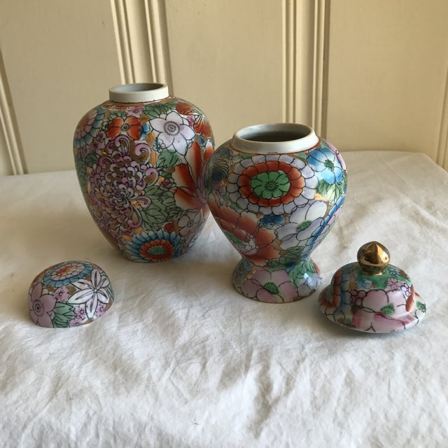 Chinoiserie Ceramic Ginger Jars - A Pair - Image 4 of 8