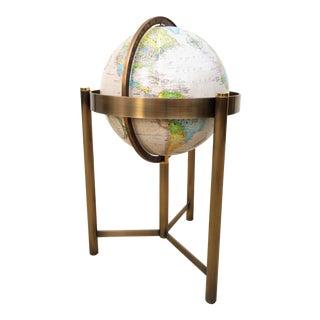 Mid Century Freestanding Replogle World Floor Globe For Sale