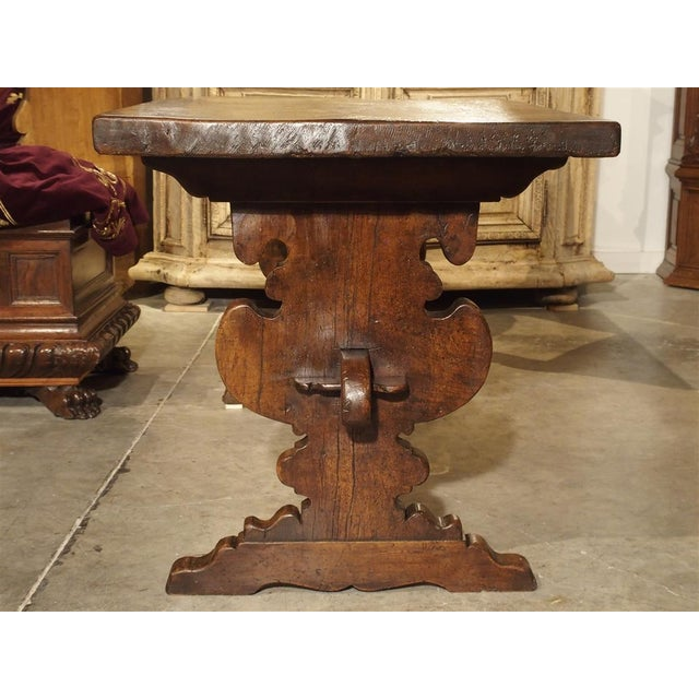 This fabulous walnut wood table from Italy dates to the 1600's. It's an excellent example of tables produced in Northern...