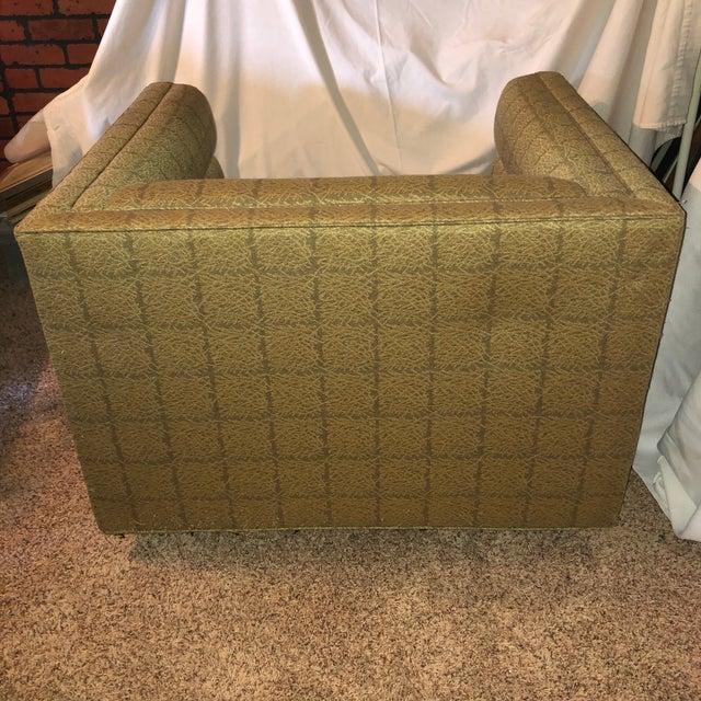 Edward Wormley Edward Wormley Dunbar Cube Lounge Chair For Sale - Image 4 of 9