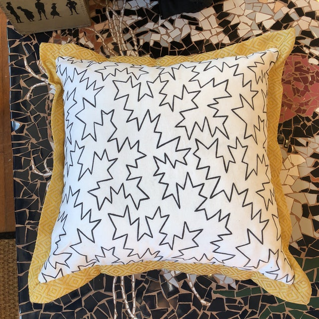 Custom Pillows in Jim Thompson Outdoor Fabric - A Pair - Image 8 of 9