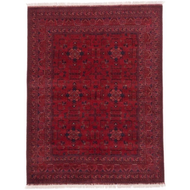 "Finest Khal Mohammadi Afghan Rug - 5' X 6'8"" - Image 1 of 2"