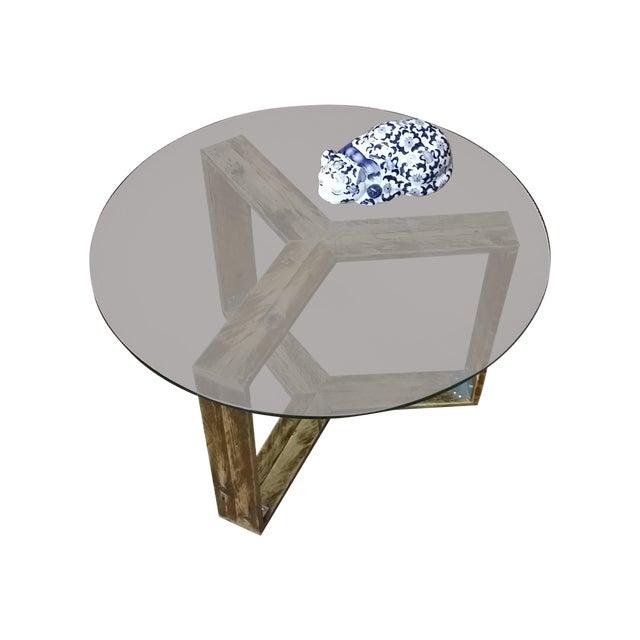 Custom Pallet Wood Side Table - Image 2 of 9