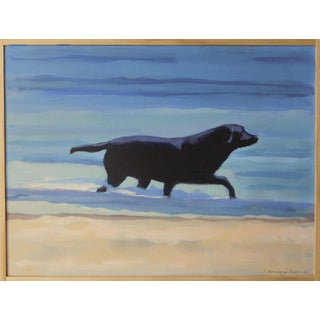 Beach Dog by Anne Carrozza Remick For Sale