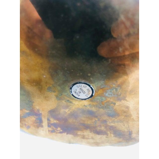 Metal 1970s Vintage Lidded Brass Trinket Box For Sale - Image 7 of 8