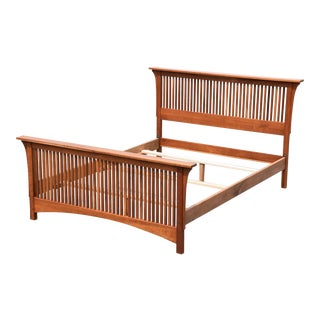 Queen-Sized Stickley Mission Cherry Bed
