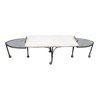 Marble Top Metamorphic Coffee Table For Sale