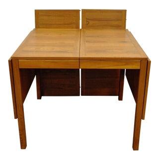 Vintage Mid Century Danish Modern Vejle Stole Teak Extension Leaf Dining Table For Sale