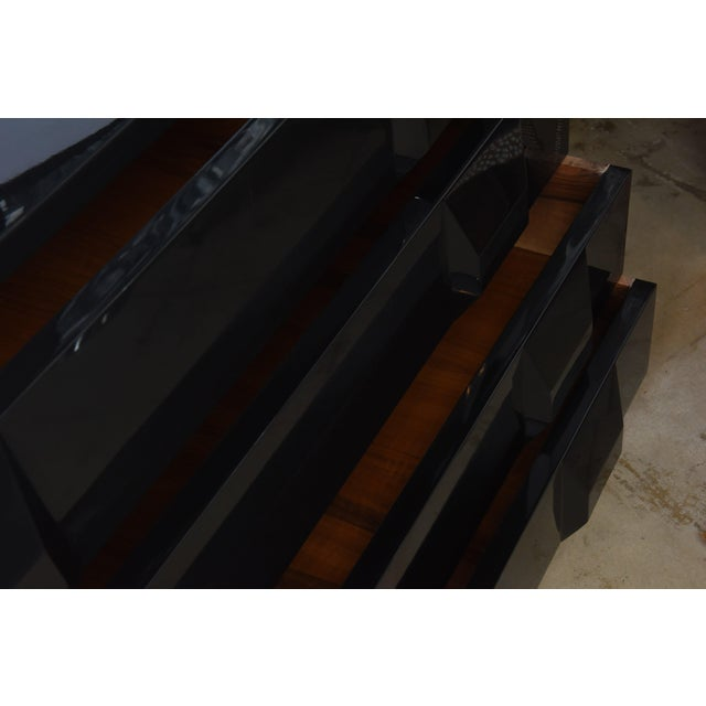Italian Modern Black Lacquered Nightstands, Poltronova, 1960's For Sale In Miami - Image 6 of 10
