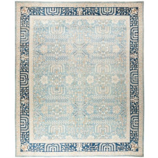 "Oushak, Hand Knotted Area Rug - 12' 1"" X 14' 7"" For Sale"