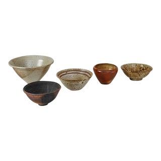 Franco Agnese Set of Five Ceramic Bowls, France, 1960s For Sale