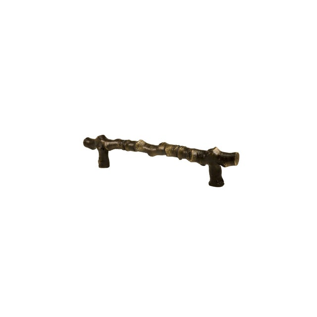 Cabin Aspen Branch Handle, Traditional Patina For Sale - Image 3 of 5