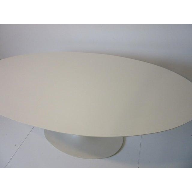 1970s Burke Tulip Desk / Dining Table for Burke International For Sale - Image 5 of 11