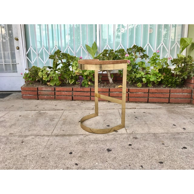 Set of 3 Vintage Brass Stools by Warren Bacon - Image 5 of 7