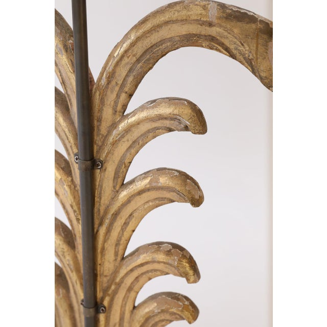 Wood Gilded Custom Table Lamp For Sale - Image 7 of 9