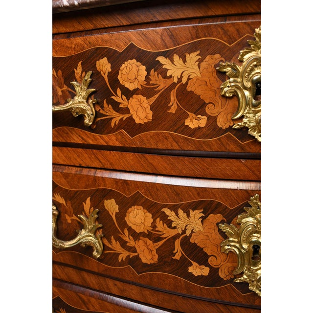 Late 19th Century Louis XV-style Marquetry Chest of Drawers - Image 9 of 10