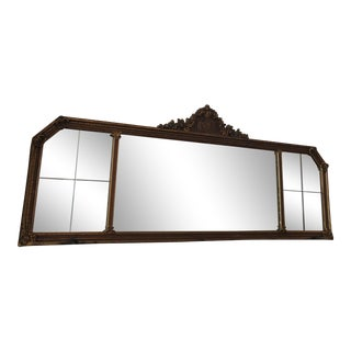 Antique Beveled Glass Rococo Style Mirror
