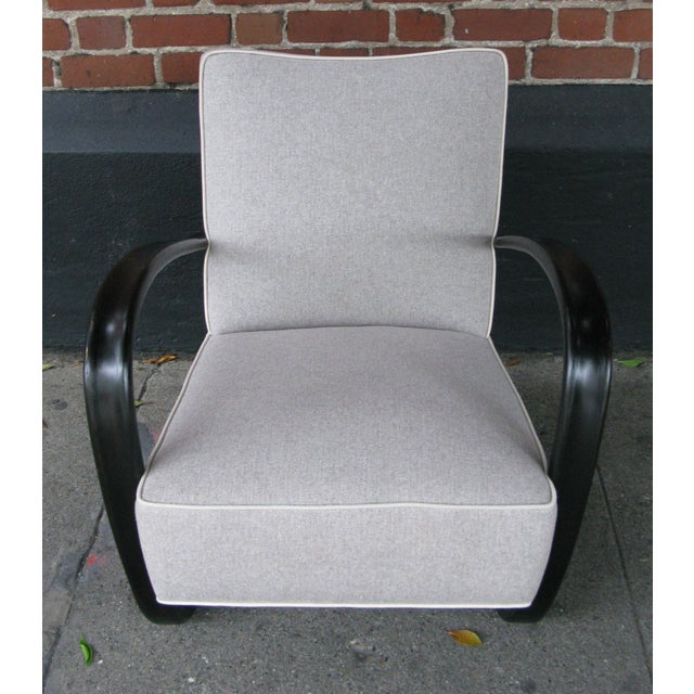 Mid-Century Modern Jindrich Halabala Lounge Chair For Sale - Image 3 of 6