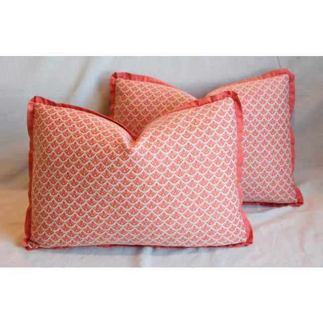 "Cotton Italian Marion Fortuny Canestrelli Feather/Down Pillows 23"" X 17"" - Pair For Sale - Image 7 of 13"
