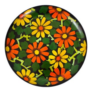 1960s Japanese Hand Painted Tray For Sale