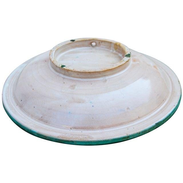 Teal Moorish Ceramic Wall Plate For Sale - Image 8 of 9