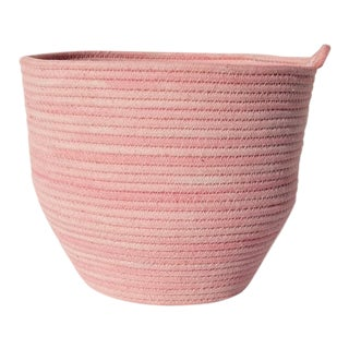 Pink Cotton Rope Bowl