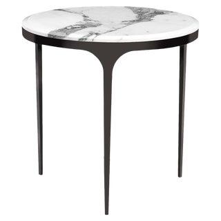 Interlude Home Camilla Side Table - Arabescato For Sale