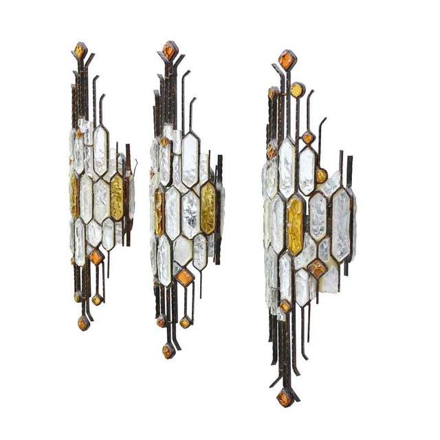Longobard Brutalist Sconces by Longobard - Set of 3 For Sale - Image 4 of 5