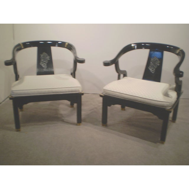 Chinese Lacquered Chippendale Chairs - A Pair - Image 2 of 6