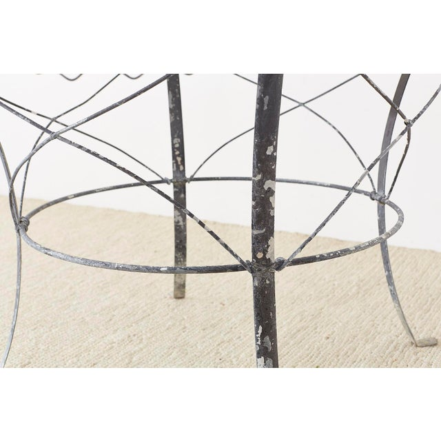 French Wrought Iron and Wire Garden Dining Table For Sale - Image 10 of 13